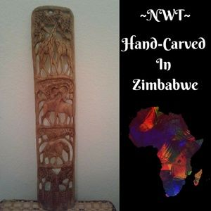 NWT Hand Carved In Zimbabwe Story Sculpture